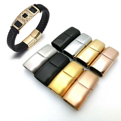 £3.11 • Buy Stainless Steel Magnetic Clasp Hole For Leather Cord Buckle Bracelet Jewelry  AP