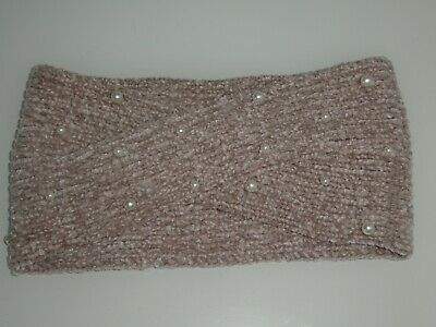 £6 • Buy Ladies Ultra Soft Knitted Twist Headband With Pretty Pearl Detail New & Unused