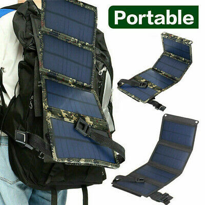 £15.99 • Buy 20W USB Solar Panel Folding Portable Power Charger Camping Travel Phone Charger