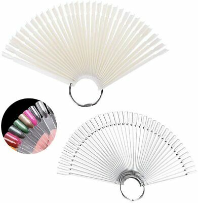 £3.79 • Buy NAIL COLOUR DISPLAY Sharp Clear Pink Black White SWATCHES Pop Sticks Sample Fan