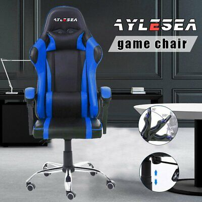 AU85.50 • Buy AYLESEA Gaming Chair Leather Office Computer Chairs Racer Executive Racing Seat