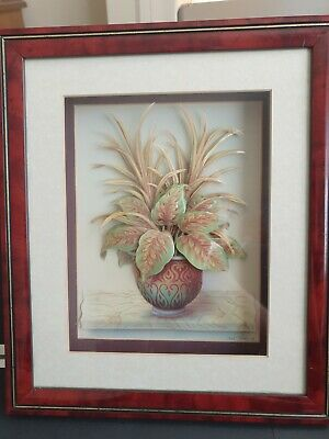 £12.99 • Buy Vintage Rob Pohl (signed)Decoupage Picture Floral 3D Picture Shadow Box Frame