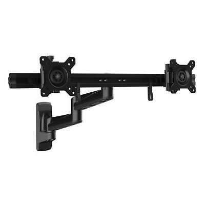 £124.99 • Buy Wall Mount Dual Monitor Arm - Articulating - For Two 15-24 Monitors - Steel
