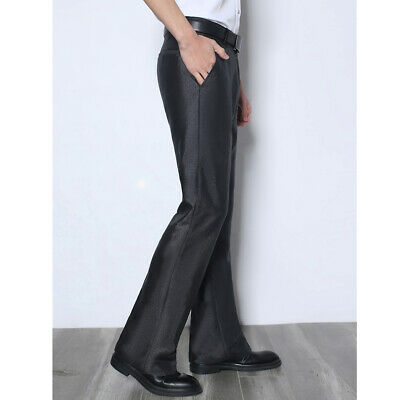 £39.55 • Buy Mens Flared Wide Legs Suit Straight Long Trousers Business Formal Dress Pants