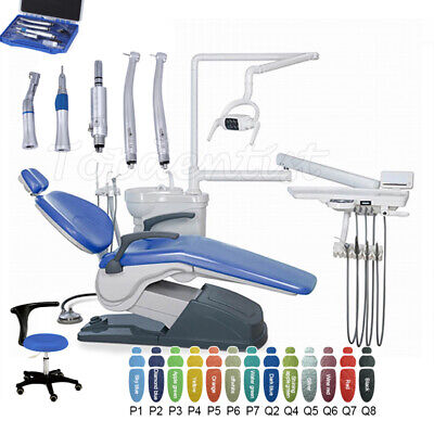 £1270.13 • Buy Dental Unit Chair Leather Computer Controlled + Dentist's Stool + Handpiece Kit