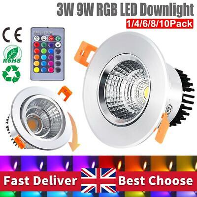 £11.69 • Buy LED Ceiling Light Recess Round Downlight 16 Colors Ceiling Lamp Colorful Lights