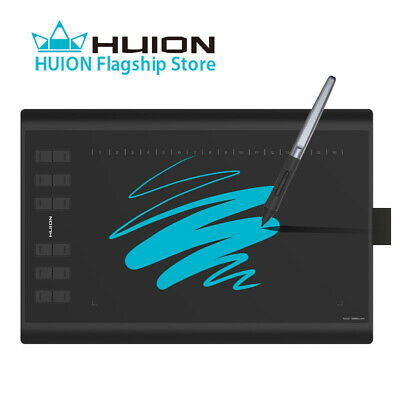 AU69.99 • Buy USED Huion H1060P Graphic Drawing Pen Tablet Tilt Support 8192 Battery-free Pen
