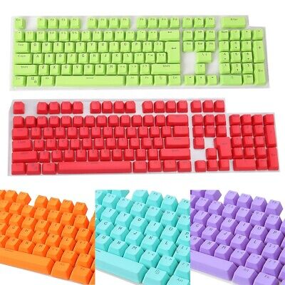 £9.97 • Buy 106 Keys Pbt Solid Color Backlight Keycaps Replacement For Mechanical Keyboard