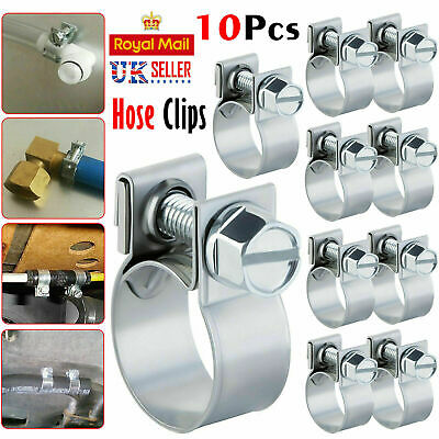 £2.99 • Buy 10 X Jubilee Hose Clips Mini Hose Clamp Fuel Line Diesel Petrol Pipe Clip Clamps