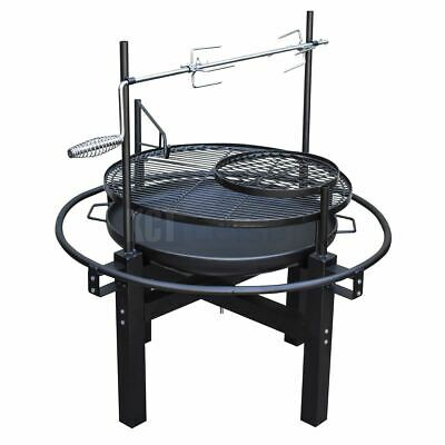 £74.95 • Buy Outdoor Charcoal Bbq Grill With Rotisserie Barbecue Hot Spit Roast Fire Pit Bowl