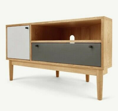 £220 • Buy Ex-Display MADE.COM Campton Corner TV Stand In Oak/ FREE DELIVERY