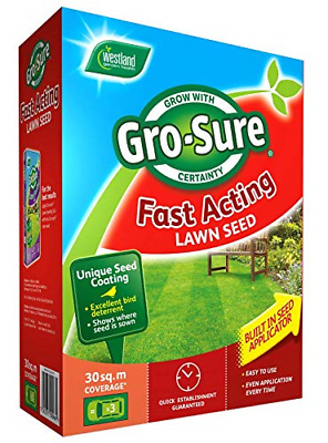 £21.29 • Buy Gro-Sure Fast Acting Grass Lawn Seed, 30 M2, 900 G