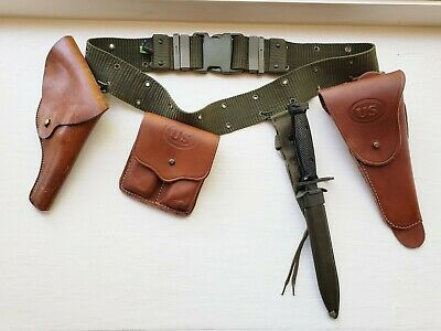 $ CDN619.26 • Buy Vintage US Military Belt With Holsters & COLT'S 62316 M8A1 BAYONET AND SCABBARD