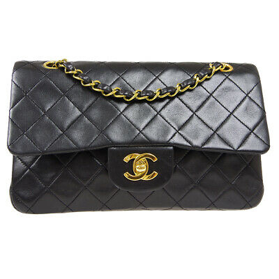 £2719.36 • Buy CHANEL Classic Double Flap Small Shoulder Bag 2851543 Black Lambskin 90879