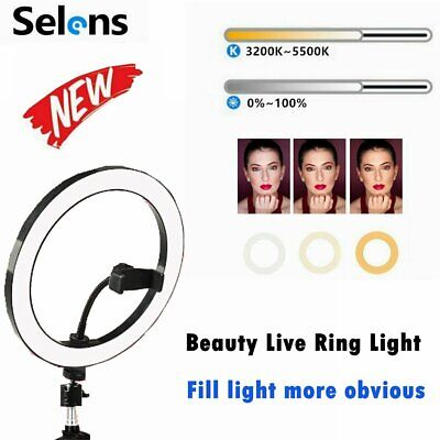 AU25.99 • Buy Selens 26cm Dimmable Ring Light With Protable Clamp For Computer Portrait