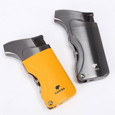 £13.99 • Buy Cigar Lighter Jet Flame Portable Butane Single Torch With Cigar Punch Cigarette