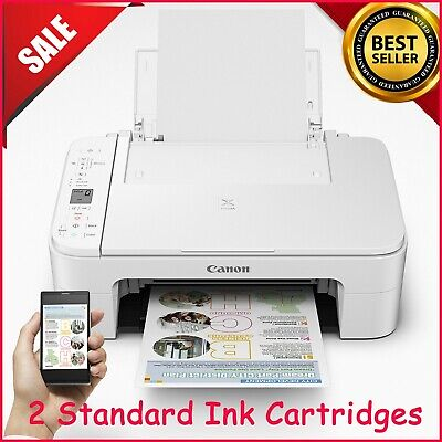 View Details Canon Pixma TS3322 All In One Printer Copy Scan WiFi ***WITH INK*** Wireless**** • 70.99$