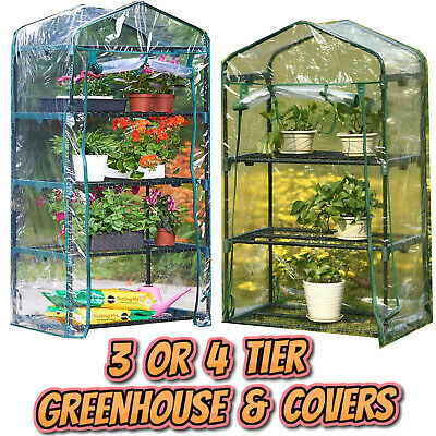 £22.95 • Buy Garden Greenhouse 3 Or 4 Tier | Complete Kits | Replacement Green House Covers