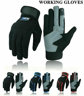 £6.39 • Buy Safety Work Gloves Heavy Duty Hand Protection Mechanic Gardening Builders Cut