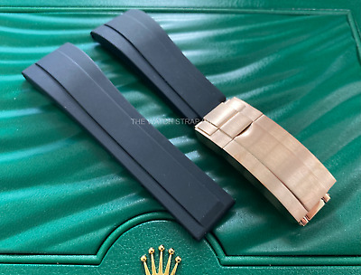 $ CDN31.74 • Buy 20mm Silicone Rubber Strap With Rose Gold Clasp For Rolex OysterFlex Daytona