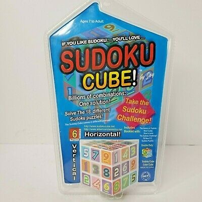 £14.51 • Buy SUDOKU CUBE Deluxe Game Cube Ages  7 To Adult 18 Different Puzzles SEALED