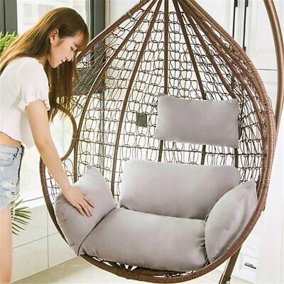 £55.11 • Buy Swing Hanging Egg Rattan Chair Outdoor Garden Patio Hammock Stand Porch Cushions