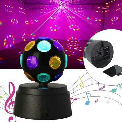 £9.99 • Buy Disco Light Ball Crystal Party DJ Rotating LED Magic Stage Club Lamp Battery