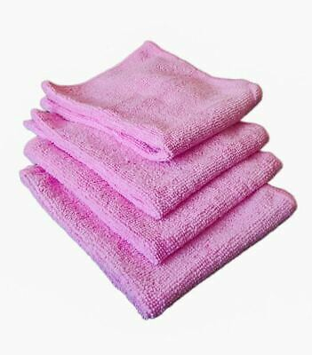 £2.90 • Buy Microfibre Dish Kitchen Cleaning Cloths Tea Towels Cloth Pack Absorbent Pk4 Pink