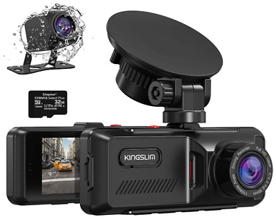 AU78.46 • Buy Dash Cam With GPS, 1080P Front And Rear Dual Dash Camera For Cars