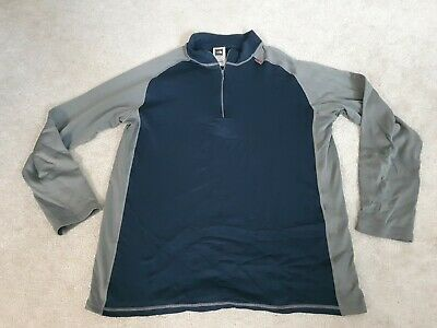 £25 • Buy Mens North Face Xl Base Layer Long Sleeve Technical Top Jersey Navy Grey