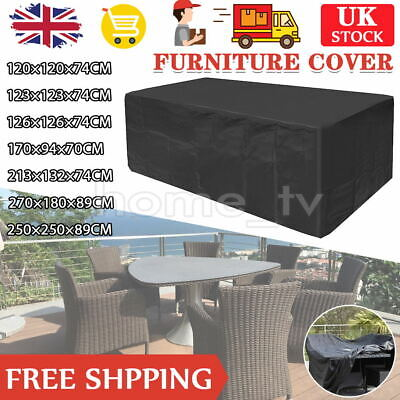 £12.98 • Buy Heavy Duty Garden Patio Furniture Table Cover For Rattan Table Cube Set Outdoor