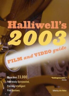 £4.41 • Buy Halliwell's Film And Video Guide 2003 (Halliwell's: The Movies That Matter),Les