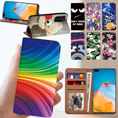 £3.99 • Buy Leather Flip Wallet Book Cover Fit Huawei P20 / P30 /P30 Lite / P40 Phone Case