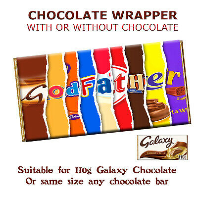 £1.79 • Buy Godfather Chocolate Bar Wrapper For Baby Christening Baptism Inviting Godparents