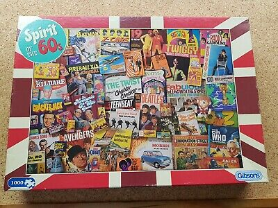 £15.95 • Buy Gibson's Spirit Of The 60s Jigsaw Puzzle -1000 Pieces Fully Complete
