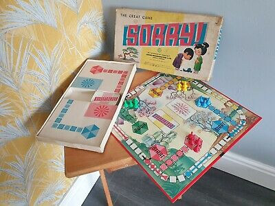 £10.99 • Buy Sorry Vintage Board Game Card Family Waddingtons 1963 1960s Original Counters