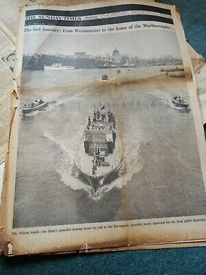 £5 • Buy The Times  Funeral 1965 Winston Churchill Supplément Some Wear