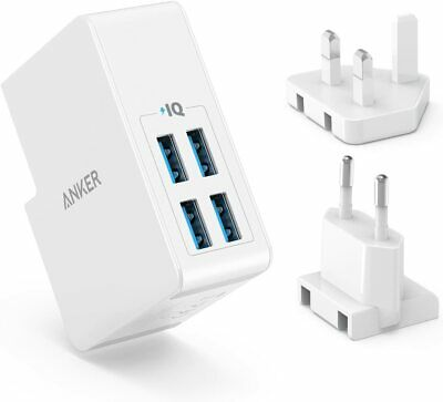 £15.99 • Buy Anker 4-Port USB Wall Charger UK& EU Travel Plug Adapter For IPhone XS Galaxy S8