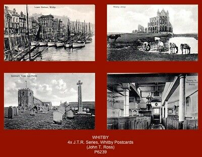£7.50 • Buy  WHITBY - 4x Early J.T.R. Series Postcards (Ross, Whitby) (c.1910's)
