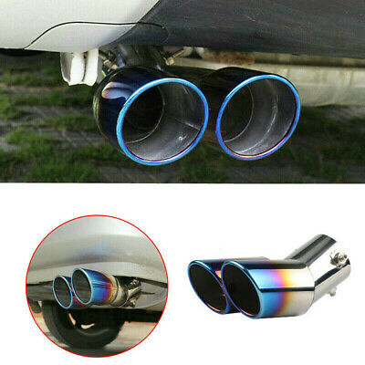 $21.13 • Buy Auto Car Rear Dual Exhaust Pipe Tail Muffler Tip Throat Tailpipe Accessories