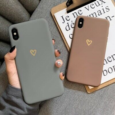 £4.45 • Buy Cute Heart Matte Shockproof Phone Case Cover IPhone 13 12 11 Pro Max XR 7 8 SE