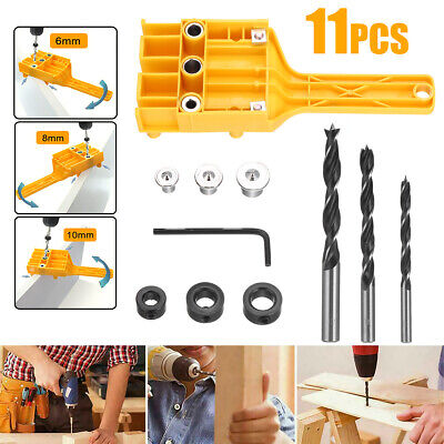 £8.29 • Buy Handheld Woodworking Guide Wood Dowel Drilling Hole Saw Doweling Jig Drill Kits