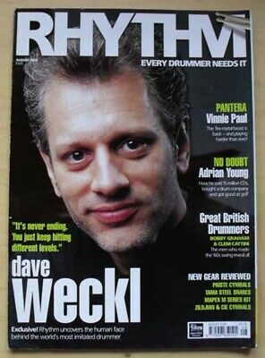 £8 • Buy Dave Weckl Rhythm Magazine Aug 2000 Dave Weckl Cover With More Inside Uk