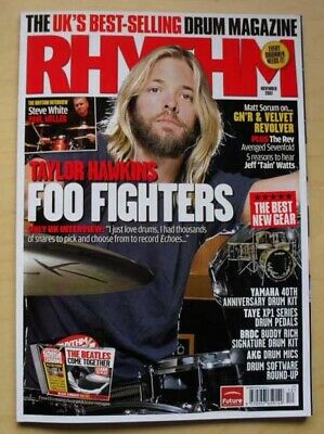 £8 • Buy Foo Fighters Rhythm #144 Magazine Nov 2007 Taylor Hawkins Cover With More Inside