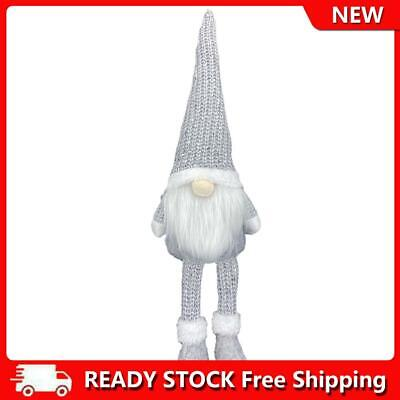 £4.22 • Buy Nordic Style Christmas Faceless Doll Ornament Home Desk Decorations (Grey)