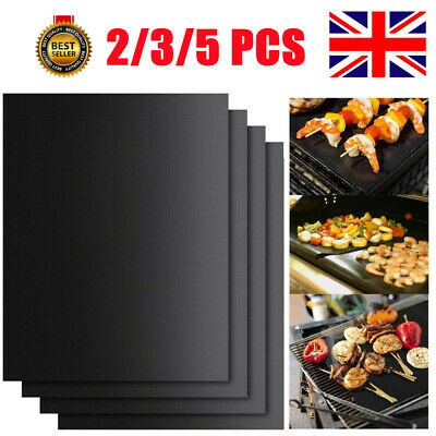 £6.99 • Buy Reusable Sheet BBQ Grill Mat Resistant Non-Stick Protector Barbecue Bake Cooking