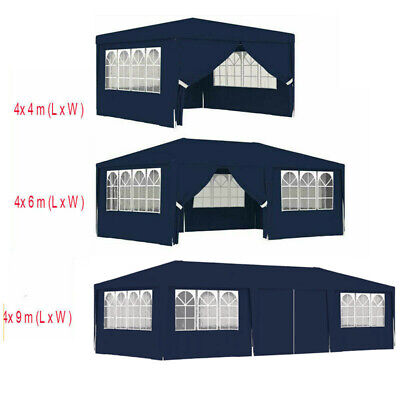 AU191.80 • Buy Party Tent With Side Walls 4m 6m 9m Blue Outdoor Garden Canopy Gazebo Marquee