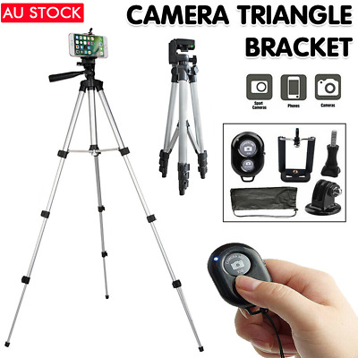 AU13.05 • Buy Professional Camera Tripod Stand Phone Holder Mount Remote For IPhone Samsung