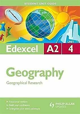 £2.19 • Buy Edexcel A2 Geography Student Unit Guide: Unit 4 Geographical Research (Student U
