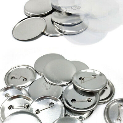 £20.99 • Buy 25MM 32MM 37MM 300 Sets Button Parts Supplies For Badge Button Pin Maker Machine